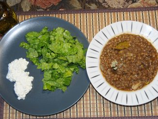 Φακές με σαλάτα και Cottage Cheese - Lentils with Salad and Cottage Cheese