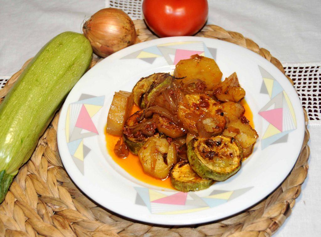 Μπριάμ - Pumpkin with Potatoes in the Oven