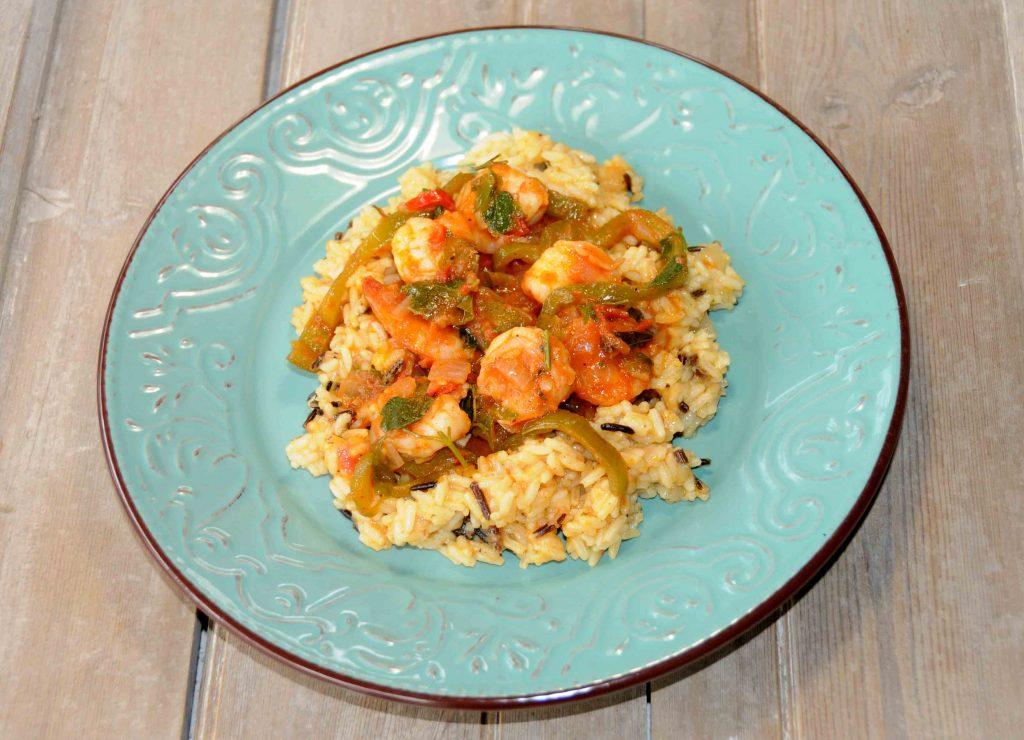Ρύζι σπυροτό με γαρίδες - Beaten Rice with Shrimps