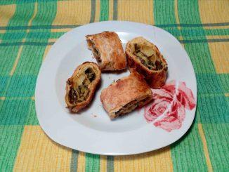Σπανακόπιτα με φύλλο σφολιάτα - Spinach pie with puff pastry