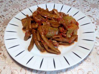 Φασολάκια με κολοκυθάκια - Green Beans with Zucchini