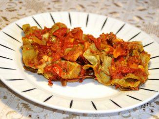Μπακαλιάρος με λαζάνια - Cod with lasagna