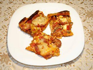 Πίτσα με φύλλο σφολιάτα - Pizza with puff pastry