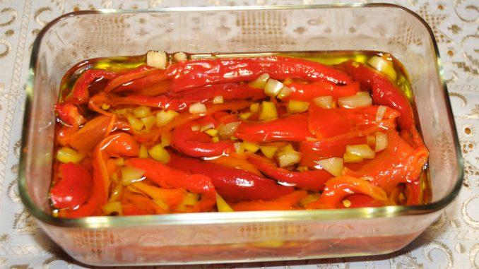 Πιπεριές Φλωρίνης στο λάδι - Florina peppers in the oil