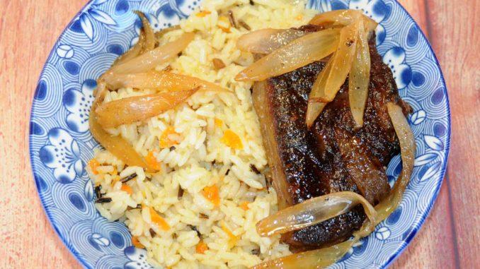 Συκώτι μοσχαρίσιο με ρύζι