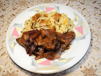 Συκώτι μοσχαρίσιο με ρύζι - Liver beef with rice