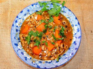 Φασόλια μαυρομάτικα με καρότο