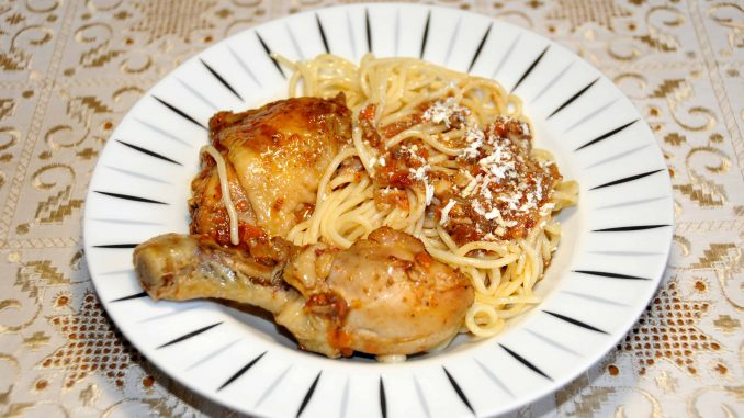 Μακαρόνια με Κοτόπουλο - Spaghetti with Chicken