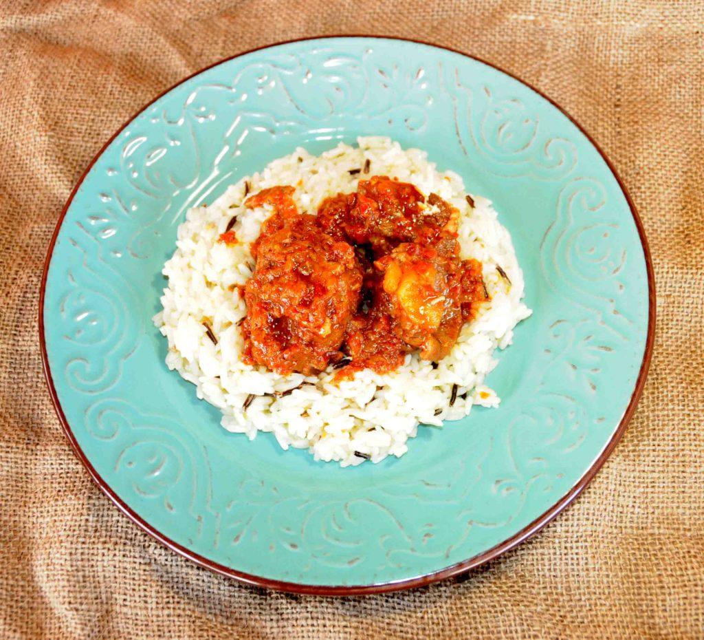 Μοσχαράκι κρασάτο με ρύζι