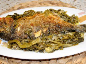 Τσιπούρες με σέλινο φρικασέ στο φούρνο - Sea bream with celery in the oven