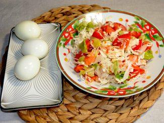 Ενα γρήγορο γέυμα με αυγό και σαλάτα - A Quick Meal with Egg and salad