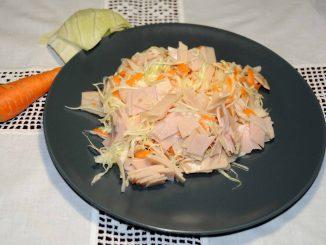 Λάχανο με φέτες γαλοπούλας - Cabbage Slices of Turkey