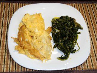 Ομελέτα με λαχανικά βραστά - Omelette with boiled vegetables