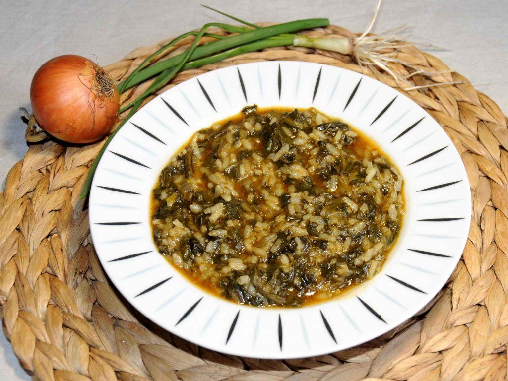 Σέσκουλα με ρύζι - Chard with Rice