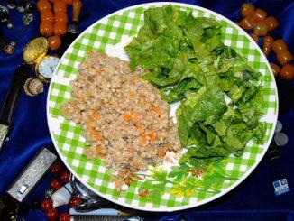 Φαγόπυρο με σαλάτα μαρούλι - Buckwheat with Lettuce Salad