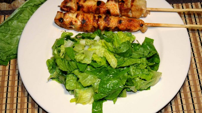 καλαμάκια κοτόπουλο με σαλάτα - Straw Chicken with Salad