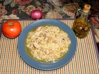 Γαλοπούλα γιουβέτσι - Turkey with orzo thick orzo pasta