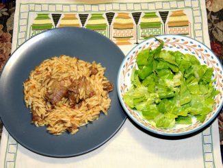 Αρνί γιουβέτσι με σαλάτα - Lamb yuveci with salad