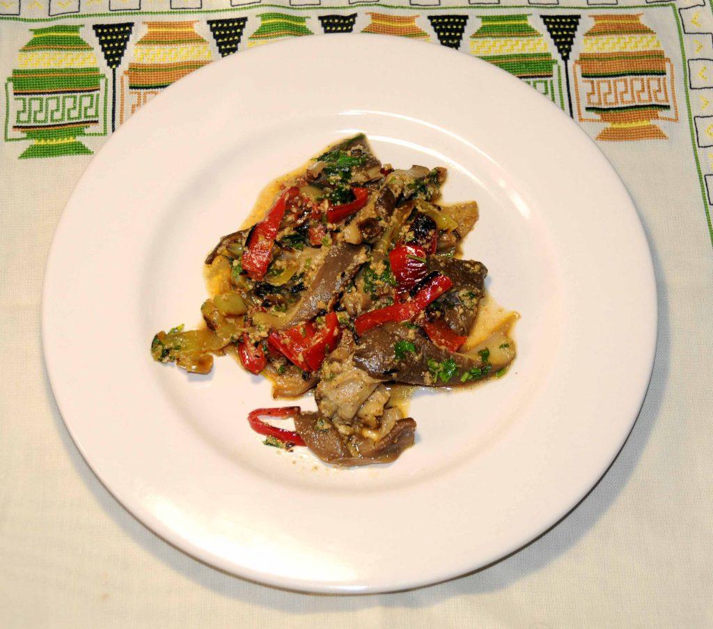 Μανιτάρια με πιπεριές - Mushrooms with peppers