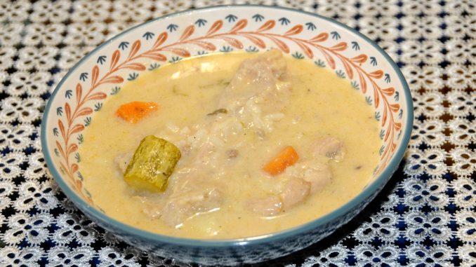 Σούπα με φτερούγες γαλοπούλας - Soup with turkey wings