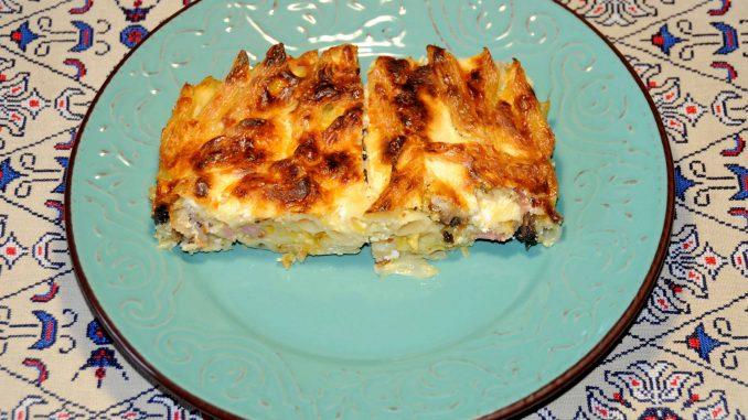Πένες φούρνου με τυριά και μπέικον - Oven Penne Rigate with Cheese and Bacon