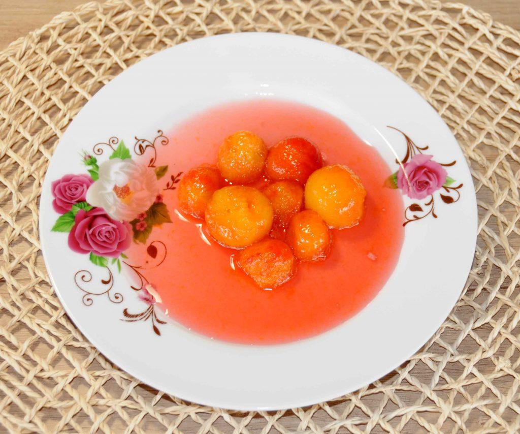 Γλυκό κουταλιού Κοκκίνα κορόμηλα - Sweet red cherry plum Preserve