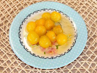 Γλυκό κουταλιού κίτρινο κορόμηλο - Sweet yellow cherry plum Preserve
