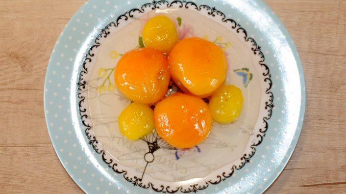Γλυκό κουταλιού κορόμηλο κίτρινο και βερίκοκο - Sweet of yellow cherry plum and apricot Preserve