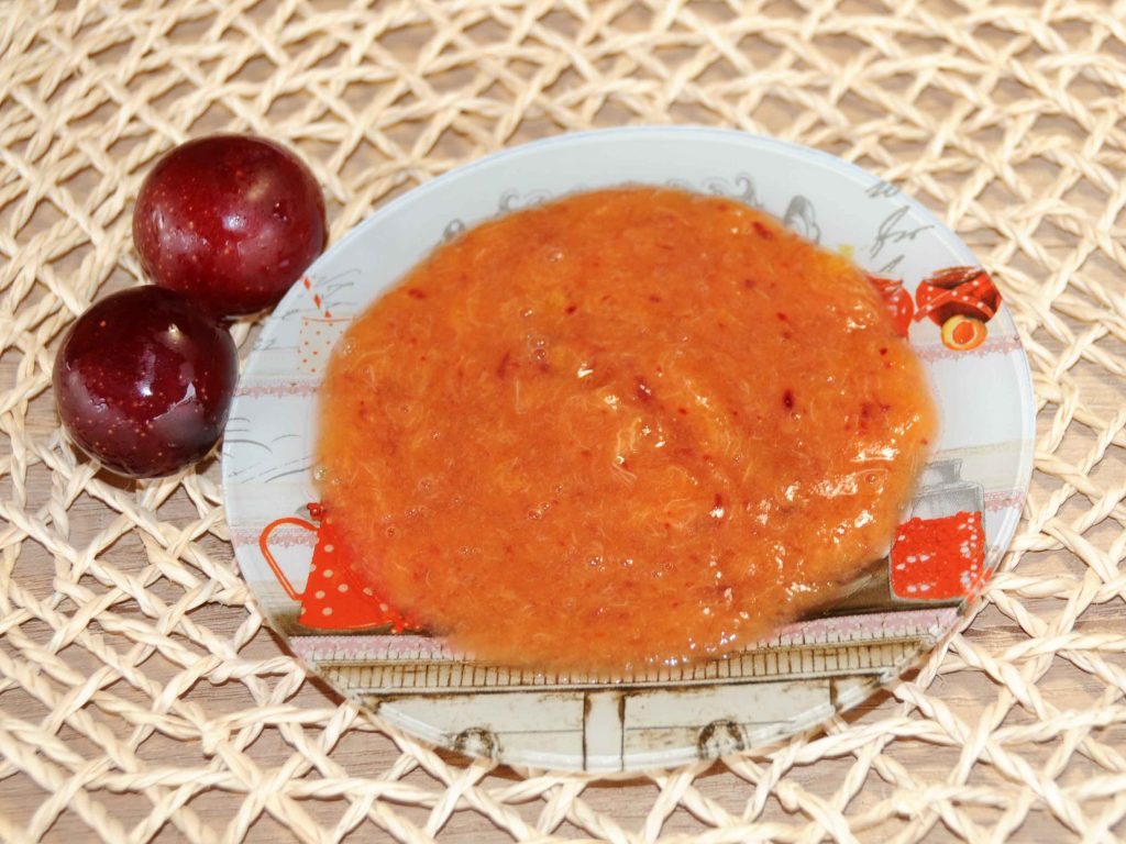 Μαρμελάδα κόκκινα κορόμηλα - Red cherry plum jam