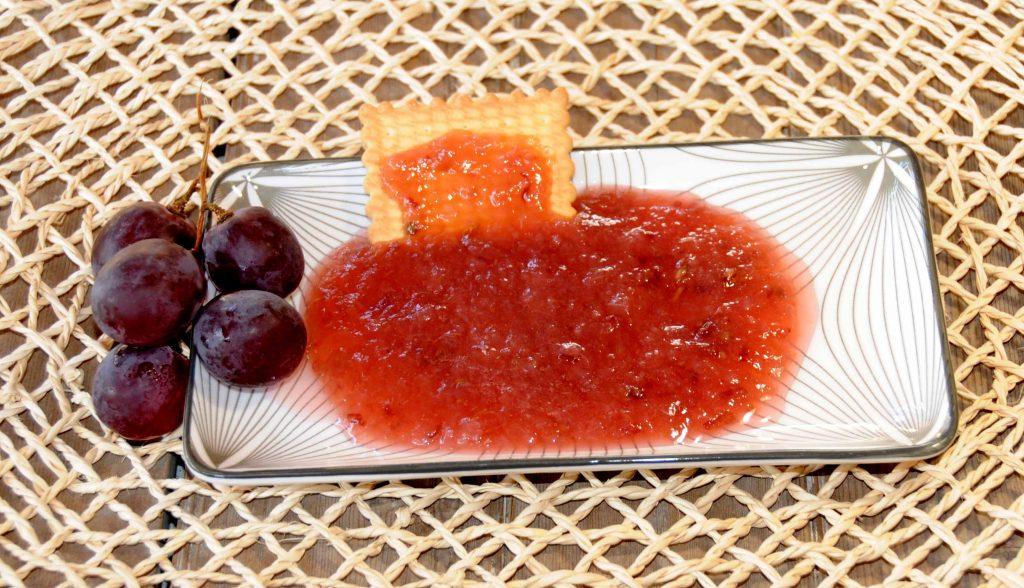Μαρμελάδα με σταφύλι φράουλα - Red Globe Grapes with Seed Jam