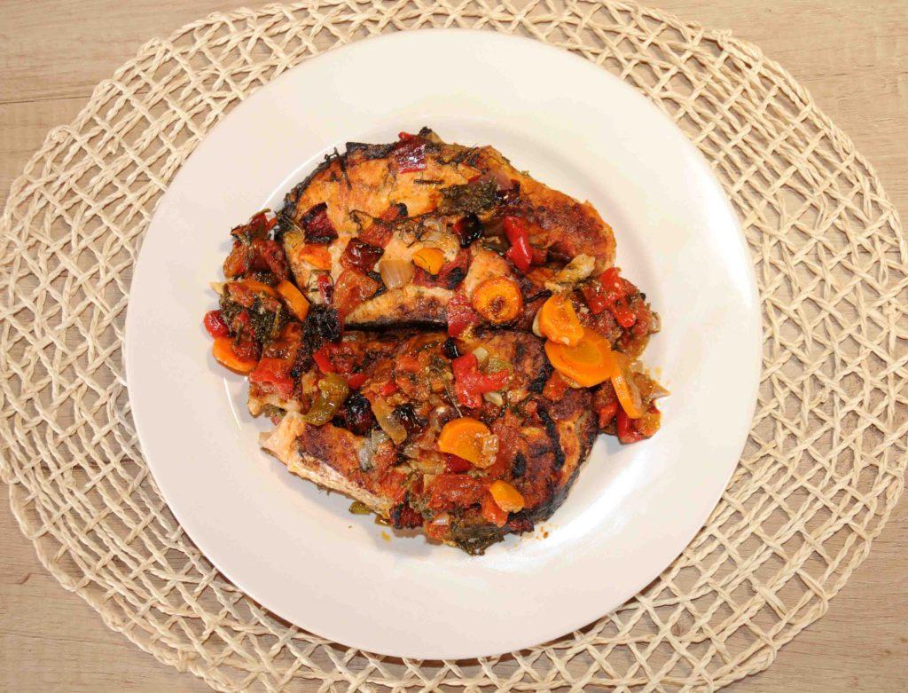 Σολωμός στο φούρνο - Salmon in the oven