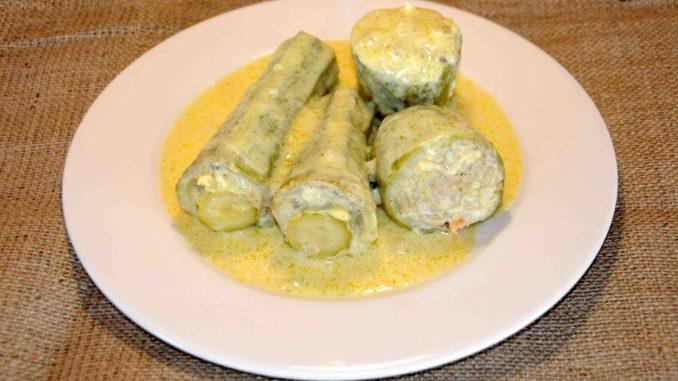 Κολοκυθάκια γεμιστά με αυγολέμονο - Zucchini stuffed with egg lemon