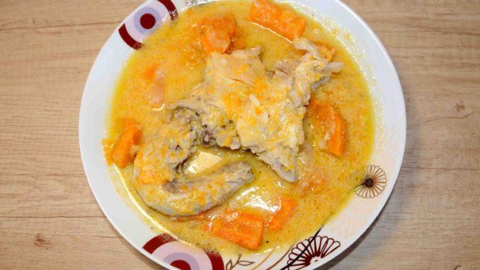 Κοτόσουπα με κολοκύθα και καρότα - Chicken soup with pumpkin and carrots