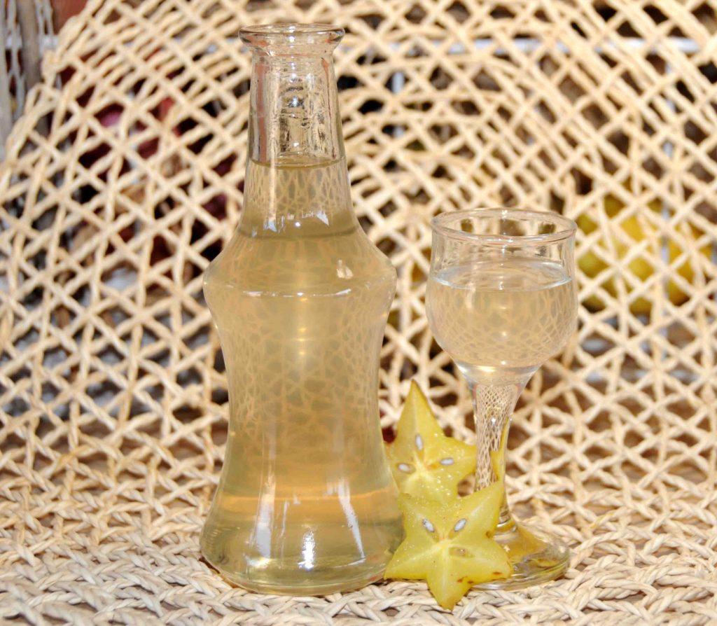 Λικέρ Καραμπόλα στάρ - Carambola or star fruit Liqueur