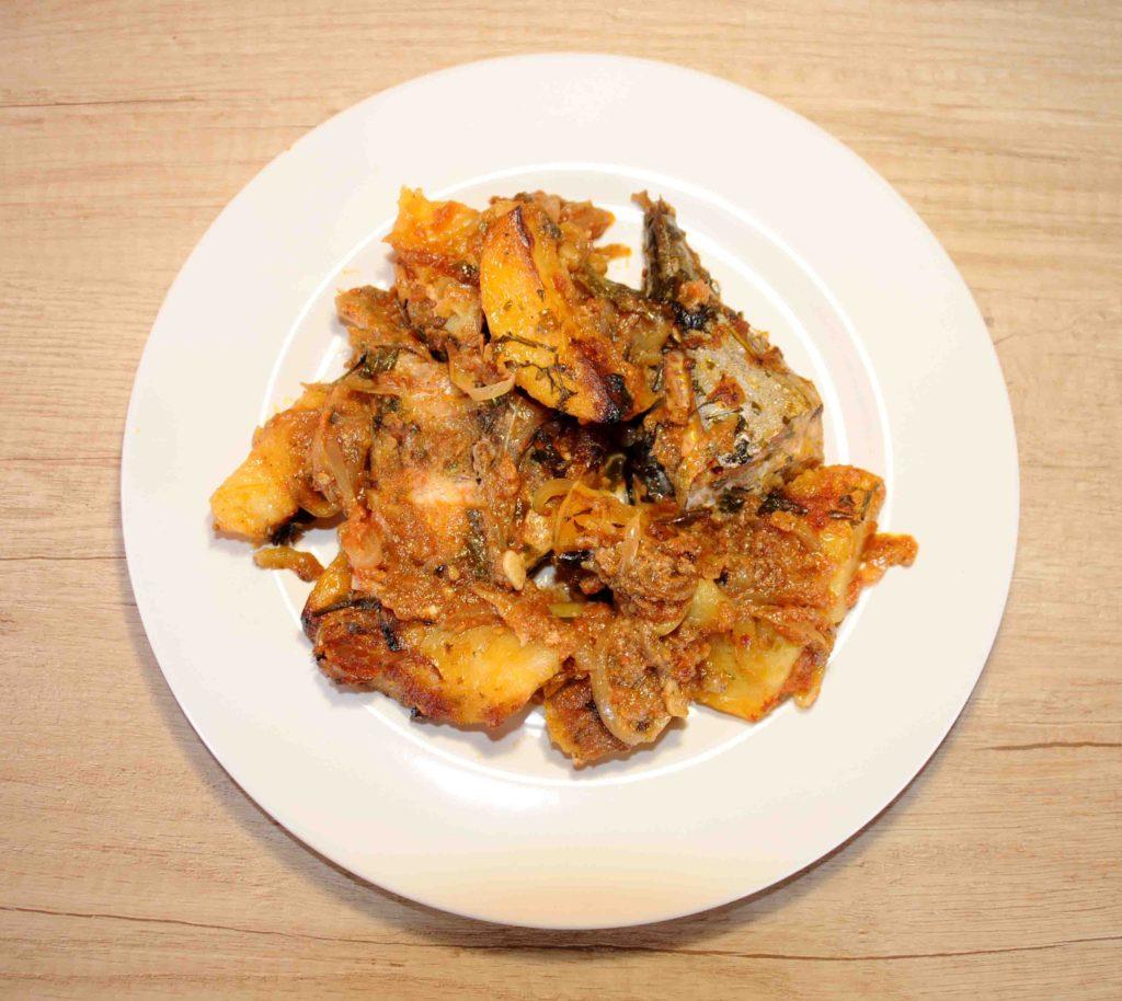 Παλαμίδα με πατάτες στο φούρνο - Bonito with potato in the oven