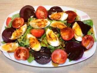 Σαλάτα με μπατζάρια - Beetroot salad