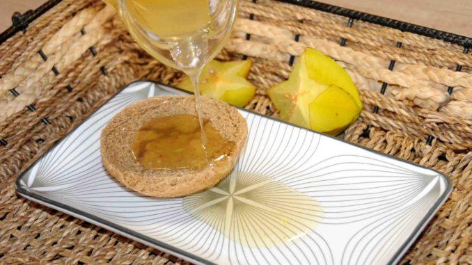Σιρόπι καραμπόλα σταρ - Carambola or star fruit syrup