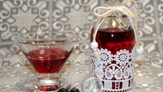 Λικέρ Μπλούμπερις - Blueberry liqueur