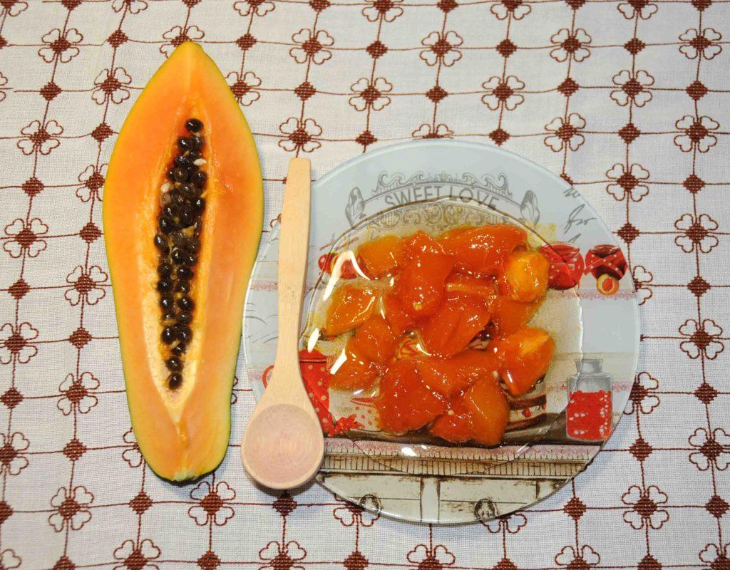 Παπάγια γλυκό - Papaya Preserve