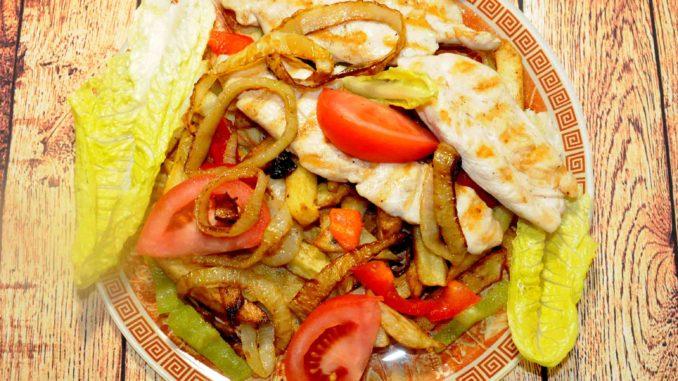 Μερίδα Φιλέτο κοτόπουλου με πατάτες
