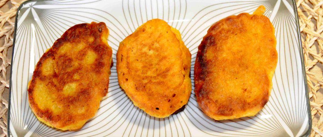 Τηγανίτες με χυλό μουστάρδας